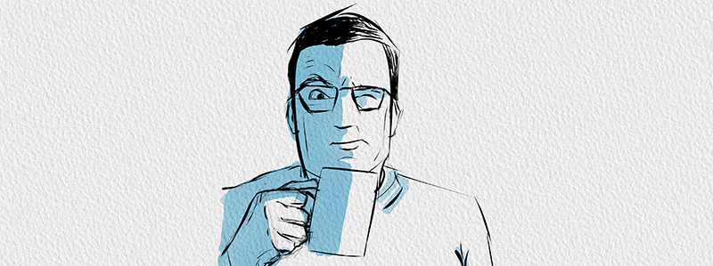 Flaco est son café trop fort